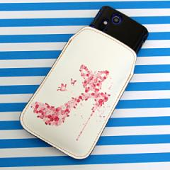 本革(レザー) スマートフォンケース【387 薔薇のハイヒール】 【Lサイズ】iPhone5/ARROWS Kiss F-03E/MEDIAS U N-02E 等汎用
