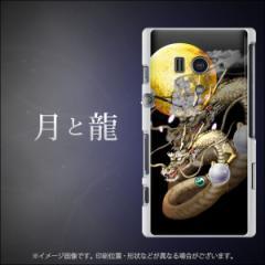 Xperia acro HD SO-03D IS12S 共用 TPU ソフトケース / やわらかカバー【1003 月と龍 素材ホワイト】 UV印刷 (エクスペリア acro HD/SO0
