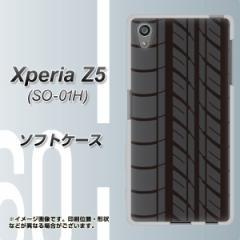 docomo Xperia Z5 SO-01H TPU ソフトケース / やわらかカバー【IB931 タイヤ 素材ホワイト】 UV印刷 (エクスペリアZ5 SO-01H/SO01H用)