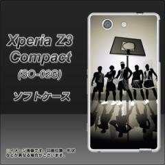 docomo Xperia Z3 Compact SO-02G TPU ソフトケース / やわらかカバー【389 ストリートバスケ 素材ホワイト】 UV印刷 (エクスペリアZ3