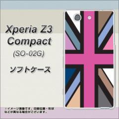 docomo Xperia Z3 Compact SO-02G TPU ソフトケース / やわらかカバー【507 ユニオンジャック-デスカラー 素材ホワイト】 UV印刷 (エク