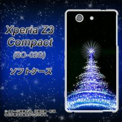docomo Xperia Z3 Compact SO-02G TPU ソフトケース / やわらかカバー【589 ブルーライトツリー 素材ホワイト】 UV印刷 (エクスペリアZ3