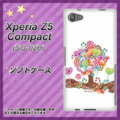 Xperia Z5 Compact SO-02H TPU ソフトケース / やわらかカバー【381 デコツリー 素材ホワイト】 UV印刷 (エクスペリアZ5コンパクト SO-0