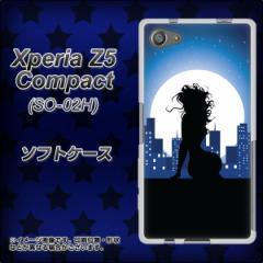 Xperia Z5 Compact SO-02H TPU ソフトケース / やわらかカバー【482 夜の窓辺 素材ホワイト】 UV印刷 (エクスペリアZ5コンパクト SO-02H