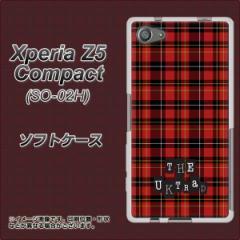 Xperia Z5 Compact SO-02H TPU ソフトケース / やわらかカバー【547 THEチェック 素材ホワイト】 UV印刷 (エクスペリアZ5コンパクト SO-