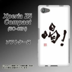 Xperia Z5 Compact SO-02H TPU ソフトケース / やわらかカバー【OE845 喝! 素材ホワイト】 UV印刷 (エクスペリアZ5コンパクト SO-02H/S