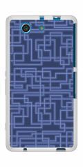 docomo XPERIA A4 SO-04G TPU ソフトケース / やわらかカバー【569 ブルーライン 素材ホワイト】 UV印刷 (エクスペリアA4/SO04G用)