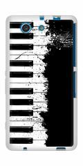 docomo XPERIA A4 SO-04G TPU ソフトケース / やわらかカバー【611 クラッシュピアノ 素材ホワイト】 UV印刷 (エクスペリアA4/SO04G用)