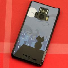 REGZA Phone T-01D / Disney Mobile on docomo F-08D 共用 ケース【012 屋根の上のねこ】