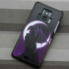 REGZA Phone T-01D / Disney Mobile on docomo F-08D 共用 ケース【037 三日月とドラゴン】