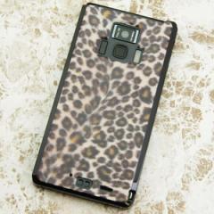 REGZA Phone T-01D / Disney Mobile on docomo F-08D 共用 ケース【069 ヒョウ 茶(黒ベース)】