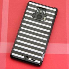REGZA Phone T-01D / Disney Mobile on docomo F-08D 共用 ケース【330 サイドボーダーブラック】