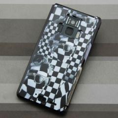 REGZA Phone T-01D / Disney Mobile on docomo F-08D 共用 ケース【357 bk&wh】