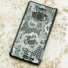 REGZA Phone T-01D / Disney Mobile on docomo F-08D 共用 ケース【474 レースの花bk】