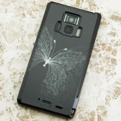 REGZA Phone T-01D / Disney Mobile on docomo F-08D 共用 ケース【475 闇の蝶】