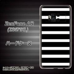 ZenFone AR ZS571KL ハードケース / カバー【EK879 ボーダー ブラック(L) 素材クリア】(ゼンフォンAR ZS571KL/ZS571KL用)