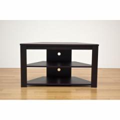 コーナーテレビ台/テレビボード 〔幅80cm/20型〜32型対応〕 ウォールナット 『Wega』 コード穴付き 〔送料無料〕