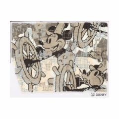 DISNEY ラグマット/絨毯 〔MICKEY/Steam RUG 100cm×140cm ベージュ〕 日本製 スミノエ 〔リビング ダイニング〕 〔送料無料〕