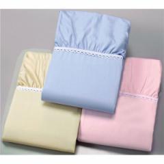 ベッドシーツ/ボックスシーツ 〔ベージュ クイーンサイズ×1枚〕 幅160cm 全周ゴム付き 洗える 綿100% 日本製 『京都西川』