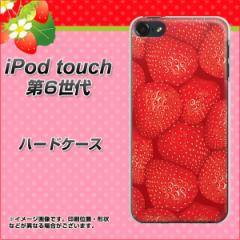 iPod touch 6 第6世代 ハードケース / カバー【444 ストロベリーウォール 素材クリア】(iPod touch6/IPODTOUCH6用)