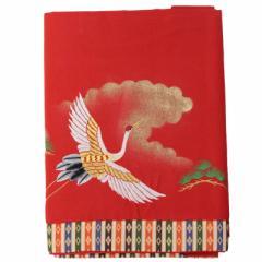 アウトレット品 雛人形赤毛せん 40号七段用【it-1132】雲絹付き 刺繍入り