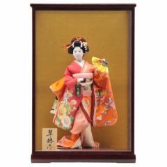 アウトレット品 日本人形ケース入り 舞妓【19ya1037】本頭 翠穂作
