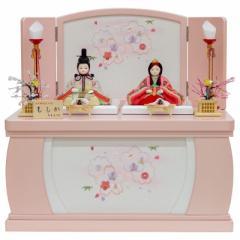 雛人形 大里彩 木目込 親王飾り 収納箱飾り 幅43cm [fz-309] ひな人形