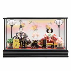 雛人形 ケース入り親王飾り[幅62cm][it-1007] 雛祭り