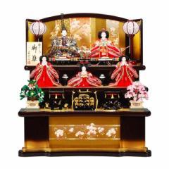 雛人形 五人揃三段飾り 【京彩】セット 27号(5人)[幅81cm] 葡萄・金塗[sb-1-13] 雛祭り