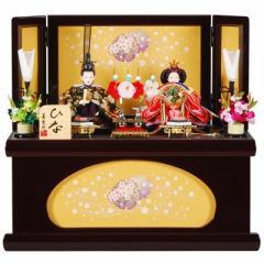 雛人形 親王収納飾り 【薫】セット(2人)[幅45cm] 葡萄色塗[sb-13-188] 雛祭り