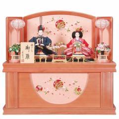 雛人形 親王収納飾り 【初春】セット 21号(2人)[幅64cm] パールピンク塗[sb-16-221] 雛祭り