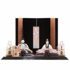 雛人形 木目込み 親王平飾り【桃山雛】[幅49cm] 一秀[ya-2003] 雛祭り