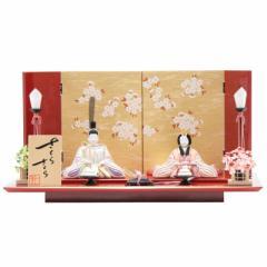雛人形 木目込み 親王平飾り【さくらさくら】[幅55cm] 一秀[ya-2004] 雛祭り