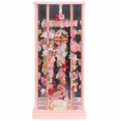 吊るし飾り ケース入り【ゆめうさぎ】[193to1004]パールピンク六角ケース 鏡付 雛祭り