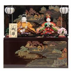 雛人形 親王収納飾り【おぼこ雛】黄櫨染 [幅55cm] 小出松寿 市川伯英頭 [193to1138-a16] 雛祭り