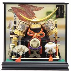 五月人形 兜ケース入り【彫金 伊達政宗】12号 幅47cm[195it1018] 端午の節句