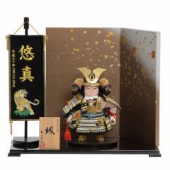 五月人形 子供大将平飾り【颯】 幅51cm[195to1039]幸一光 端午の節句