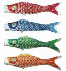 [東旭][鯉のぼり]簡単[どこでも鯉のぼり][0.8m鯉4匹]どこでも【優輝】カラフルぷちサイズセット[日本の伝統文化][こいのぼり]