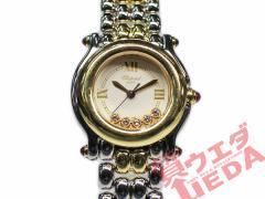 【CHOPARD】ショパール ハッピースポーツ 27/8278-21 ホワイト ダイヤ レディース コンビ【メーカーOH済】【中古】 女 時計