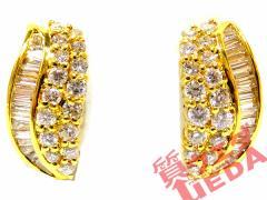 【JEWELRY】ジュエリー ピアス K18 YG イエローゴールド ダイヤモンド 1.55ct ジュエリー