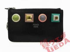 FENDI フェンディ コインケース ポーチ 小物入れ 黒 ブラック レザー 美品