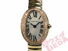 【Cartier】カルティエ ミニベニュワール ダイヤベゼル WB520026 18KPG レディース クォーツ【中古】