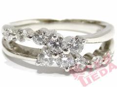 【天白】【JEWELRY】リング 指輪 Pt900 プラチナ ダイヤ 0.50ct 約8号 ジュエリー 高級