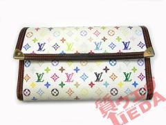 【LOUISVUITTON】ルイヴィトン モノグラムマルチカラー 3つ折り長財布 白 M92659 バッグ