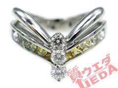【名東】ジュネ リング サファイア グラデーション 0.78ct ダイヤ 0.26ct K18WG #11 指輪 高級 ジュエリー