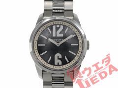 【箱・保証書付き】BVLGARI ブルガリ ソロテンポ ST37S グレー文字盤 SS クオーツ メンズ 腕時計