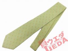 【名東】【FENDI】フェンディ ネクタイ 黄緑にオレンジ アパレル 男【未使用】【中古】