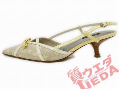 【LOUIS VUITTON】ルイヴィトン サンダル モノグラムミニ 36 ベージュ系 NO1006 アパレル 女 靴