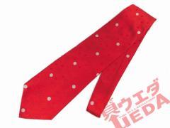 【GIORGIO ARMANI】ジョルジオ アルマーニ/ネクタイ/ダークな赤に水玉/幅広【中古】