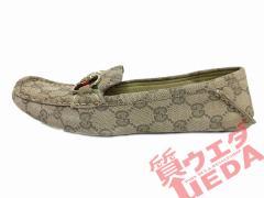 【GUCCI】グッチ/モカシン/ホースビット/ダークベージュ系/361/2/約23.5cm/婦人靴【中古】